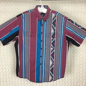 Vintage Wrangler Aztec Print Shirt XL Made in USA